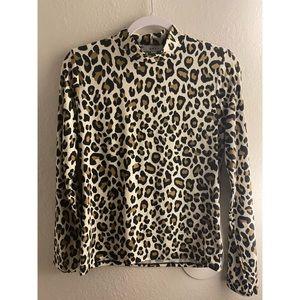 Turtle neck cheetah shirt